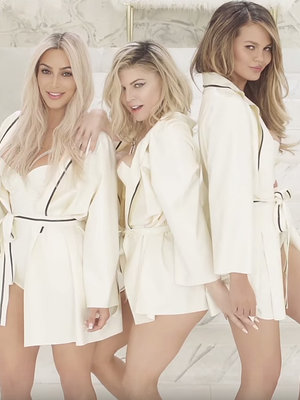 Kim Takes a Milk Shower In Fergie's INSANE New Music Video
