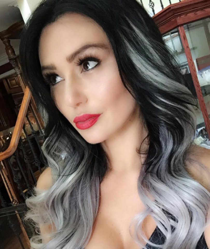 Jwoww Debuts New Gray Amp Black Do Like The Look