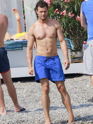 """""""Fifty Shades"""" Stars Flaunt Hot Bods on the Beach"""