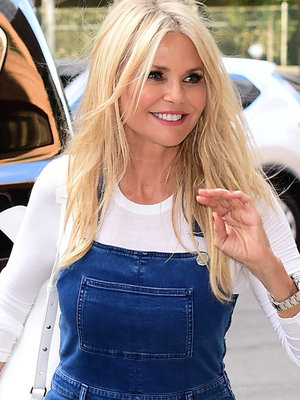 Christie Brinkley Rocks Same Denim Overalls as Padma & Klum -- Who Wore 'Em Best?