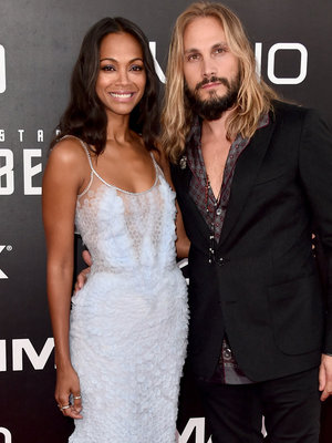 Zoe Saldana Celebrates Husband's U.S. Citizenship