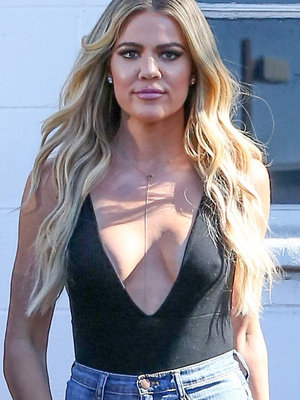 Khloe Flaunts Major Cleavage & Booty for Days!