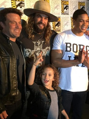 Jason Momoa Brings Son with Lisa Bonet Wolf to Comic-Con -- So Cute!