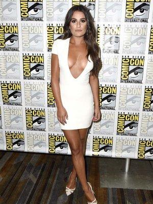 Lea Michele's Plunging Mini -- Fab or Drab?