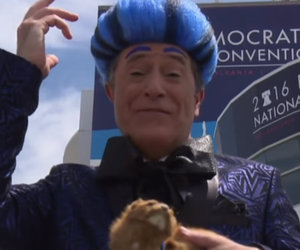 """Stephen Colbert Spoofs """"Hunger Games"""" At the DNC, Gets Kicked Off The Stage!"""