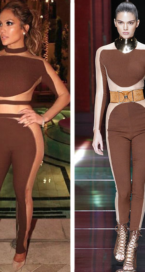 J.Lo & Kendall Sport Same Sexy Jumpsuit -- Who Wore It Better?!