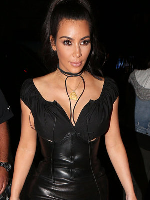 Kim K. Cinches Up Once Again ... This Time In Leather!