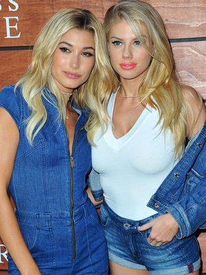 BFFs Hailey Baldwin & Charlotte McKinney Stun at GUESS Fragrance Launch