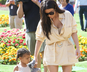 Kim Kardashian and North West Are Twinning In Tan at Del Mar Racetrack