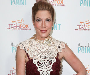 We Just Can't Get On Board With Tori Spelling's Strange Cut-Out Dress!