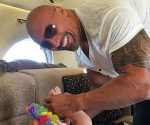 The Rock Is on Diaper Duty In Candid Dad Selfie