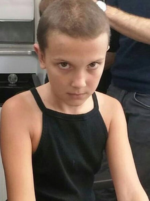 """See """"Stranger Things"""" Star Shave Her Head for Netflix's Creepy Series!"""
