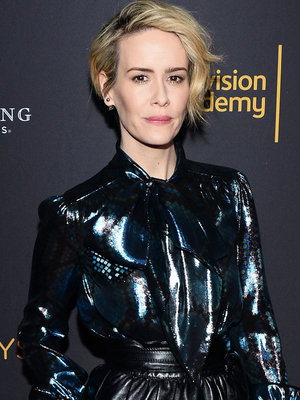 Sarah Paulson Rocks Metallic LBD at Television Academy Event