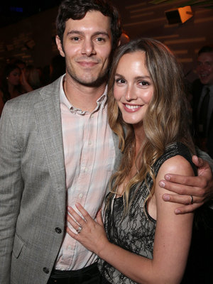 Adam Brody & Leighton Meester Are Picture Perfect During Rare Public Appearance