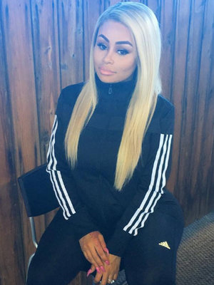 Blac Chyna Looks Just Like Kim with New Long Dark Locks