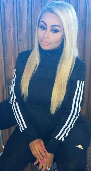Blac Chyna Looks Just Like Kim with New Long Dark Locks
