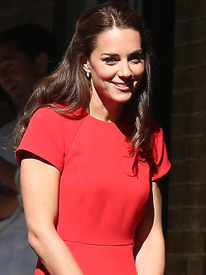 Kate Is Radiant In Red with William at YoungMinds Charity Visit