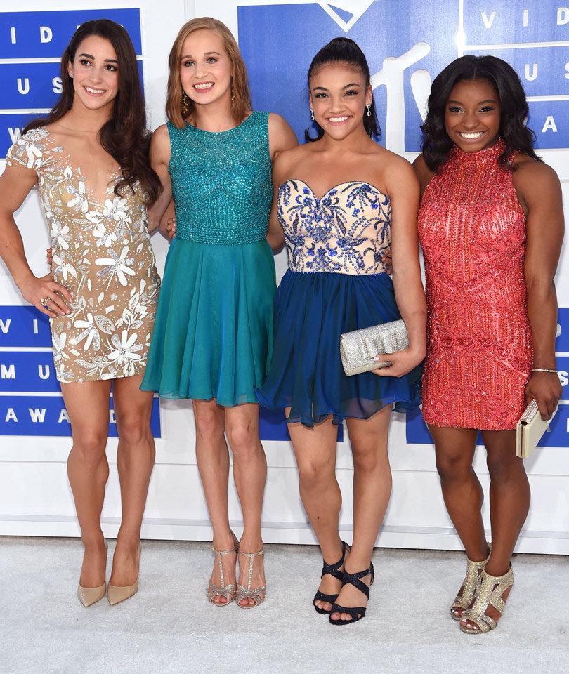 The Final Five -- Minus Gabby Douglas -- Go Glam For VMAs!