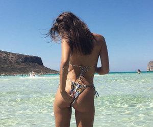 Emily Ratajkowski Posts Pic of Herself Picking Bikini Wedgie