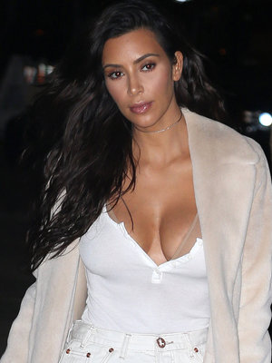 Kim Kardashian Is White Hot on Date Night with Kanye West