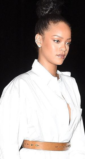 Rihanna Glows In White On Date Night With Drake