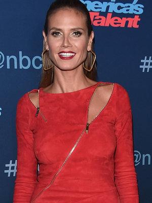 Heidi Klum Finally Gets It Right In a Red Hot Zipper Dress